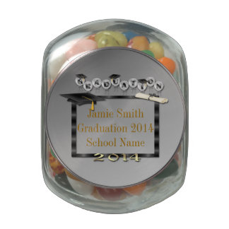 Black Balloons Frame Graduation Jelly Belly Glass Jelly Belly Candy Jar