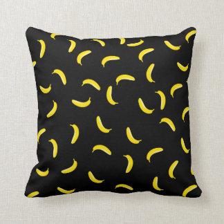 Black Banana Throw Pillow