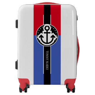 Black Banner & blue Rectangle + your ideas Luggage