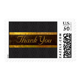 Black Banner Thank You Stamp