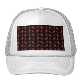 Black barbeque pattern trucker hats
