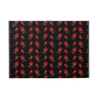 Black barbeque pattern iPad mini cover