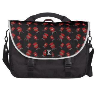 Black barbeque pattern laptop computer bag