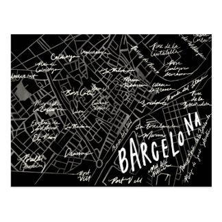Black Barcelona Spain Vintage Travel New Postcard