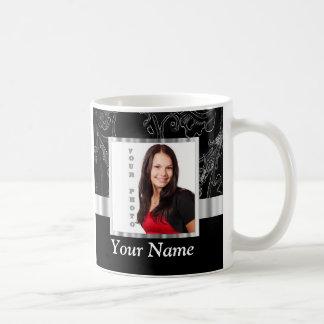 Black baroque instagram template coffee mug