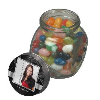 Black baroque instagram template glass candy jars