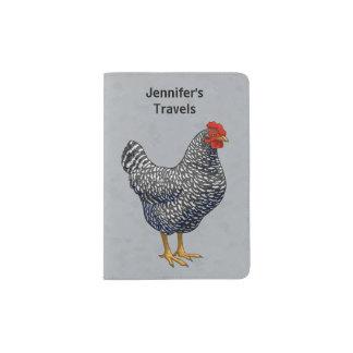 Black Barred Plymouth Rock Hen Passport Holder