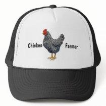Black Barred Plymouth Rock Hen Trucker Hat