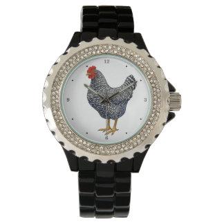Black Barred Plymouth Rock Hen Wristwatch