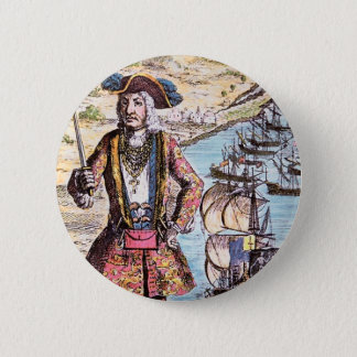 Black Bart Color Portrait Button