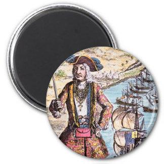 Black Bart Color Portrait Magnets