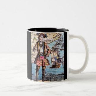 Black Bart Color Portrait Two-Tone Coffee Mug