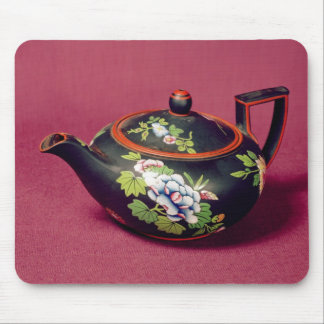 Black basalt teapot mouse pad