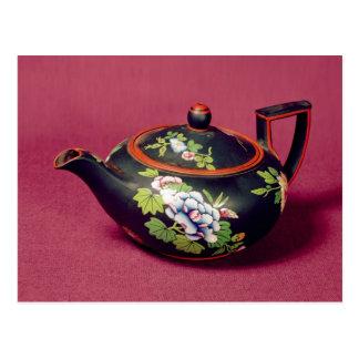 Black basalt teapot postcard