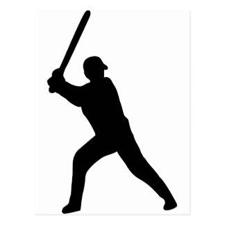 black baseball player postcard