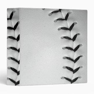 Black Baseball / Softball Stitches 3 Ring Binder