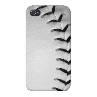 Black Baseball / Softball Stitches iPhone 4/4S Case