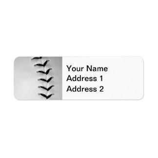 Black Baseball / Softball Stitches Label