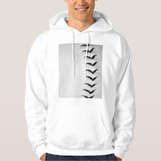 Black Baseball / Softball Stitches Pullover