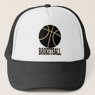 Black Basketball and Basketball Trucker Hat