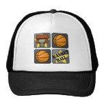 Black Basketball Mesh Hats