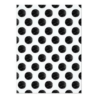 Black Basketball Pattern Card