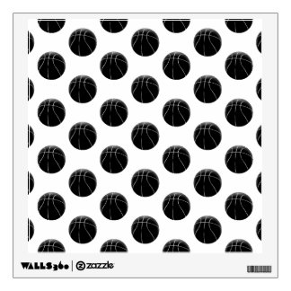 Black Basketball Pattern Wall Decal