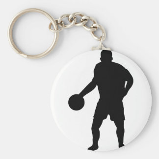 black basketball player icon keychain