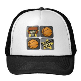 Black Basketball Trucker Hat