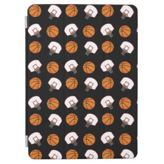 Black basketballs and nets pattern iPad air cover