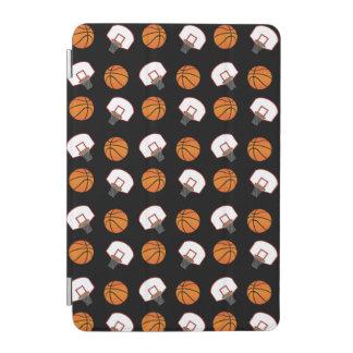 Black basketballs and nets pattern iPad mini cover
