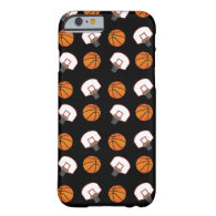 Black basketballs and nets pattern iPhone 6 case