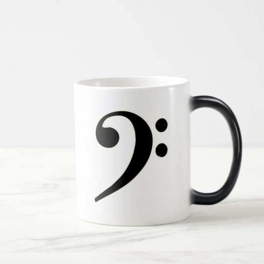 Black Bass Clef Magic Mug