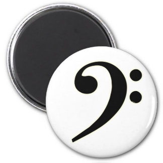 Black Bass Clef Magnet