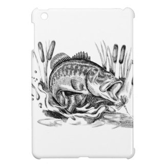 Black bass iPad mini case