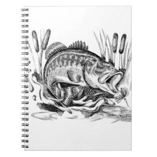 Black bass spiral notebook