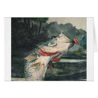Black Bass Winslow Homer Card