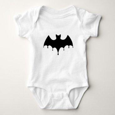 Halloween Themed Black Bat Baby Bodysuit