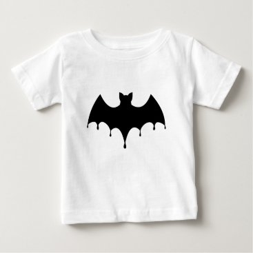 Halloween Themed Black Bat Baby T-Shirt