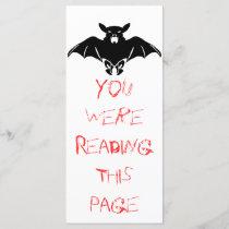 Black  Bat Bookmark Template