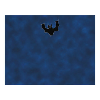 Black Bat Cartoon, in Night Sky. Custom Flyer