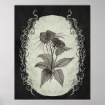 Black Bat Plant Botanical Print