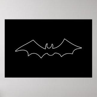 Black Bat spooky image Poster