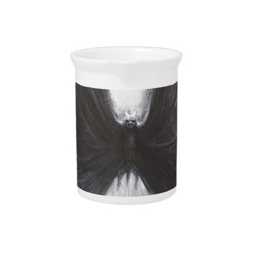 Black Bat(surreal realism) Beverage Pitcher