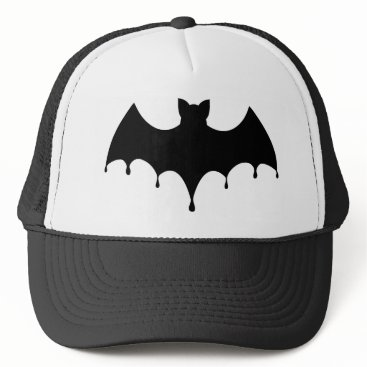Halloween Themed Black Bat Trucker Hat