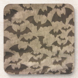Black Bats Beverage Coaster