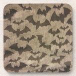 Black Bats Drink Coaster