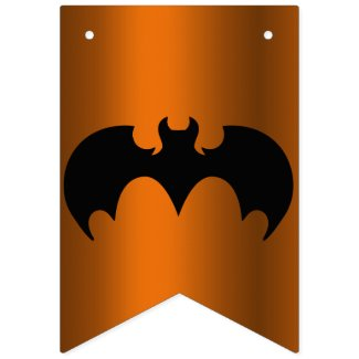 Black Bats Halloween Bunting Flags