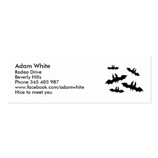 Black bats horror scary business card templates