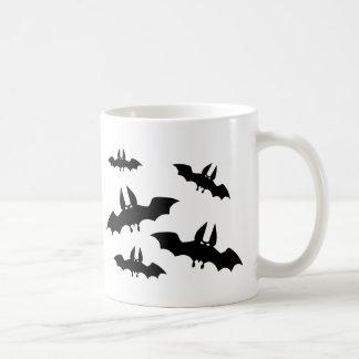 Black bats horror scary mug